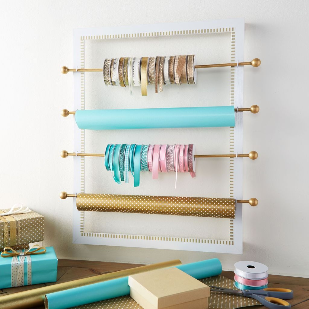 No More Tangled Rolls Of Ribbon And Gift Wrap When You Make This