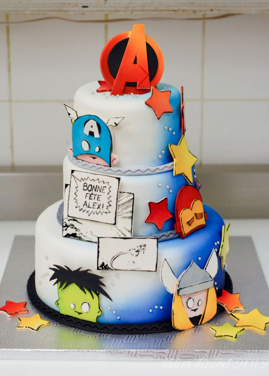 Avengers Birthday Cake Avengers birthday cakes, Avengers