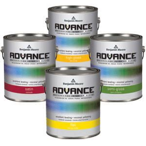 Advance - If you want a durable furniture like finish for your trim, doors, and cabinets that is easy to use and easier to clean up.  Offers the application performance of traditional oil paints, but cleans up with soap and water.  Low VOC formula!