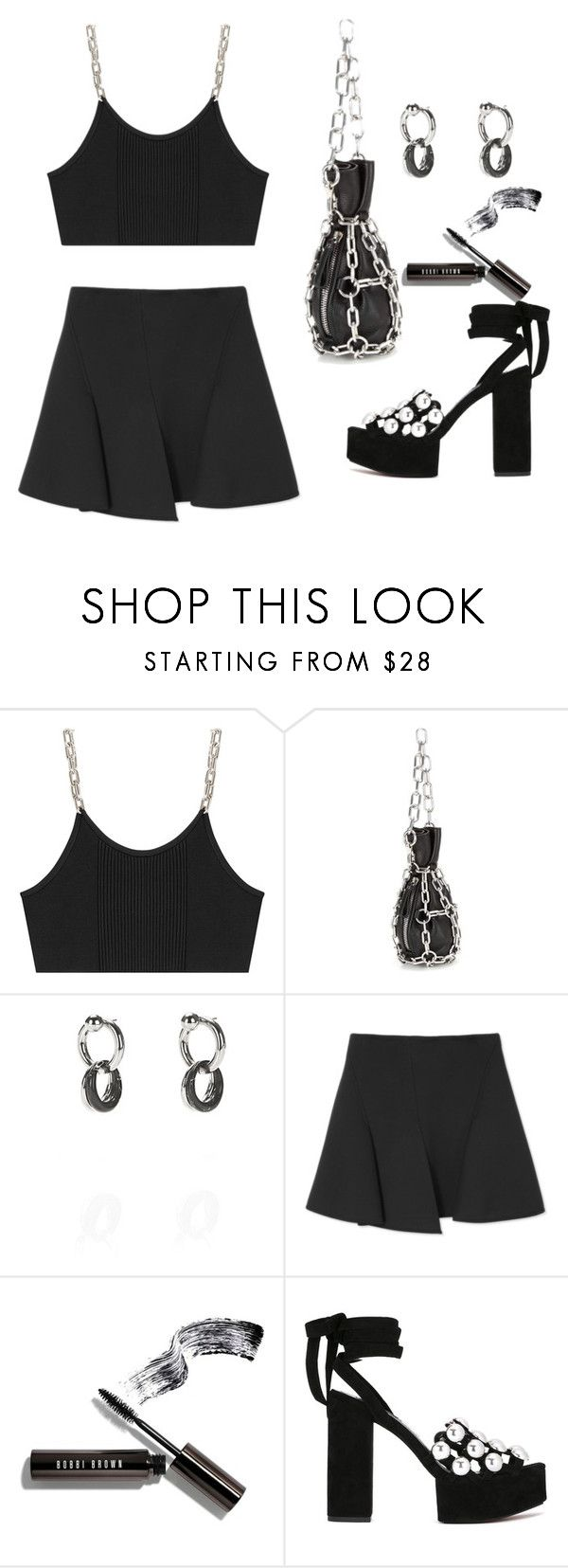 """Untitled #4232"" by lilaclynn ❤ liked on Polyvore featuring Alexander Wang, Bobbi Brown Cosmetics, NYFW and AlexanderWang"