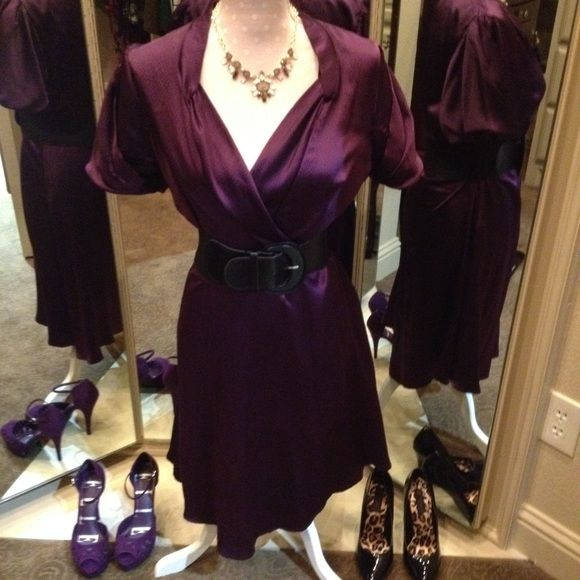 BCBG Purple SILK Dress BCBG Purple Dress SILK n.b. Belt  not included BCBG Dresses