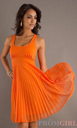 Short Pleated Semi Formal Dress At Promgirl Dresses