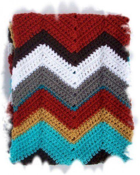 Delicadezas en crochet Gabriela: Bufanda infinita punto zig zag ...