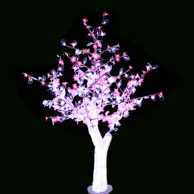 Buy Now For Xmas 1 5m 5ft Led Christmas New Year Light Crystal Cherry Blossom Tree With White Leafs Pink Flowe Cherry Blossom Tree Holiday Lights Pink Flowers