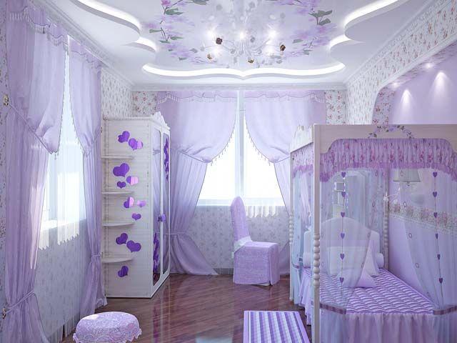 Purple Room Girls Interiors Styles Design Modern Purple