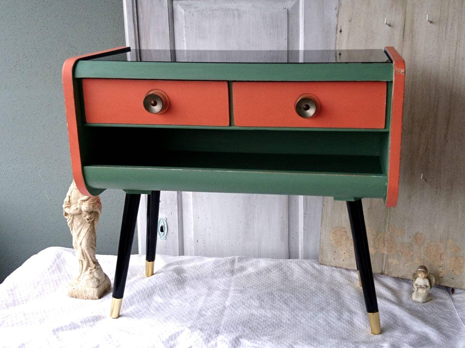 Original Vintage Kommode Kleines Schrankchen Mid Century 60er 70er
