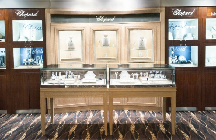 chopard area of the store manfredi jewels greenwich ct jewelry