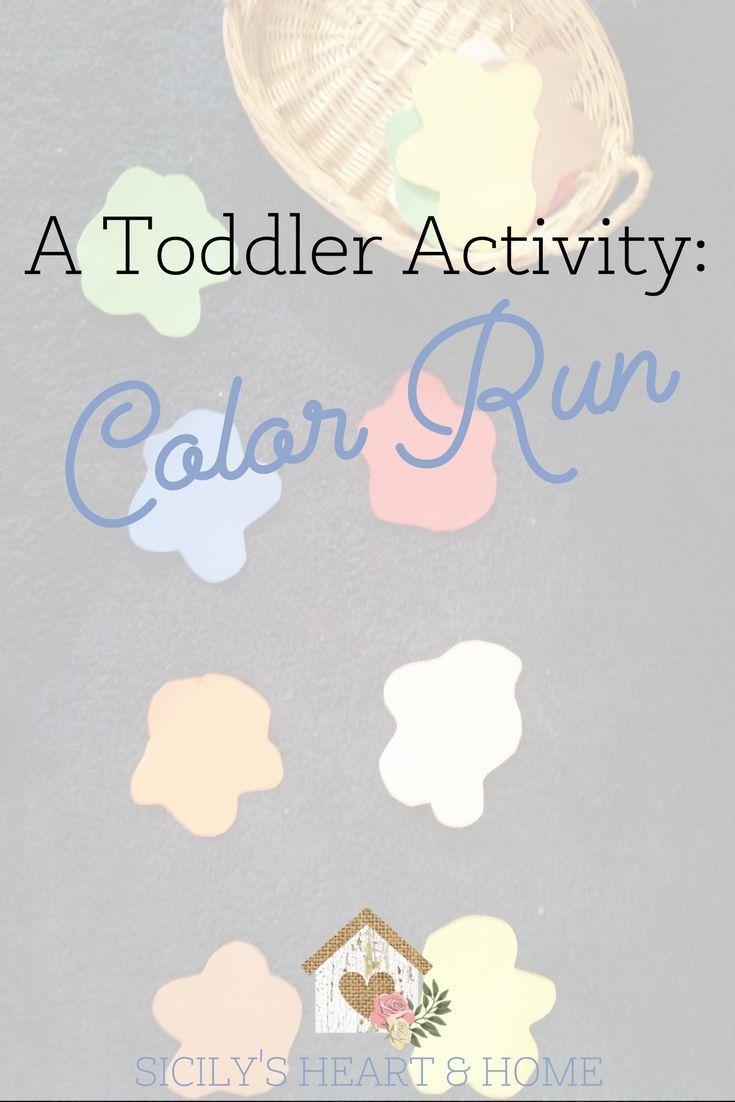 Color Run: A Toddler Color Game | Color activities, Preschool colors ...