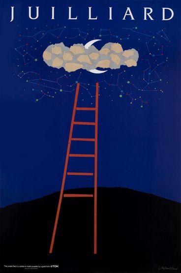[밀턴 글레이저 작업] Milton Glaser   Store   Juilliard IV, Ladder, 1988