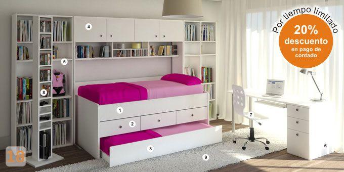 Mueble: (Código B11) cama-cucheta-varon-cajonera-cama-doble ...