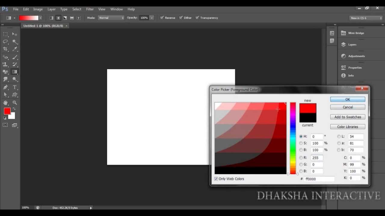 018 How to use the Gradient Tool in CS6 (With