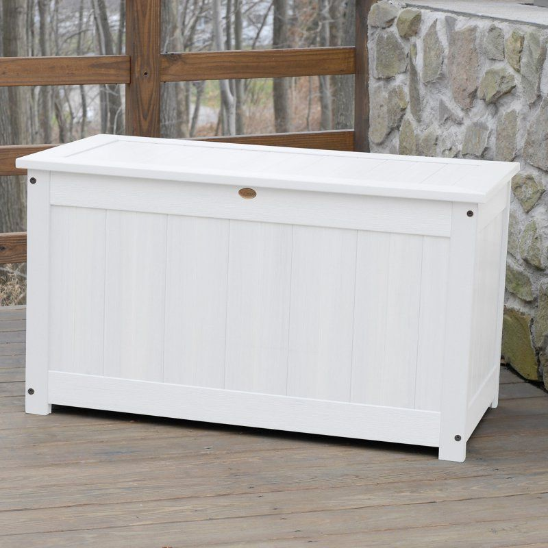 Outdoor Highwooda 42 In Large Recycled Plastic 100 Gallon Deck Storage Box Ad Dbxl1 Bke Deck Box Storage Patio Storage Deck Storage