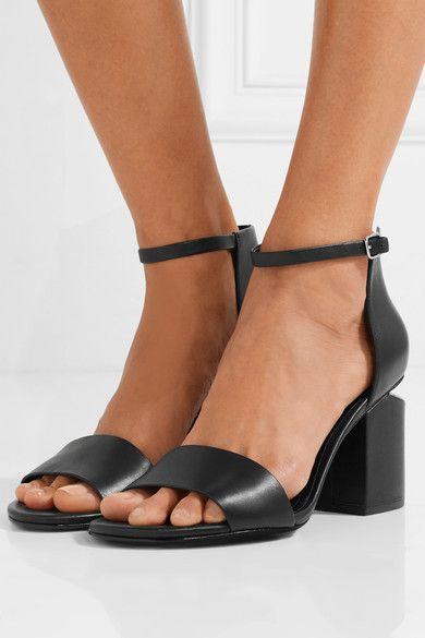 d7c7042cb160 Alexander Wang - Abby Leather Sandals - Black