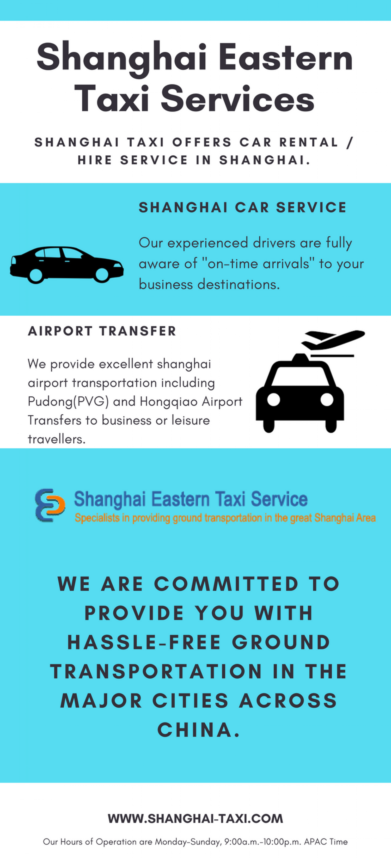 Hongqiao, Pudong (PVG) Airport Transfer Service & Hotel Pickup in