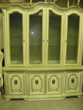 Stanley Italian Provincial Dining Room Set Sets China Cabinet Dinning