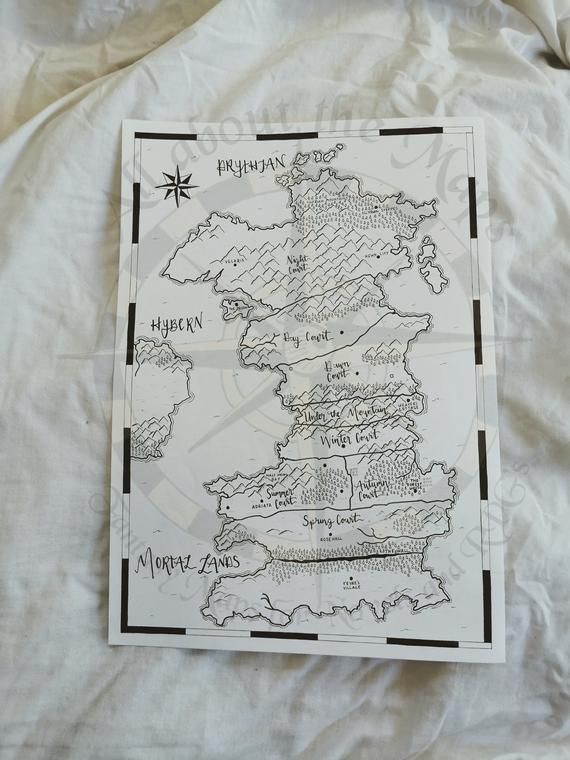 Acotar Handdrawn Map A Court Of Thorns And Roses Map Acotar