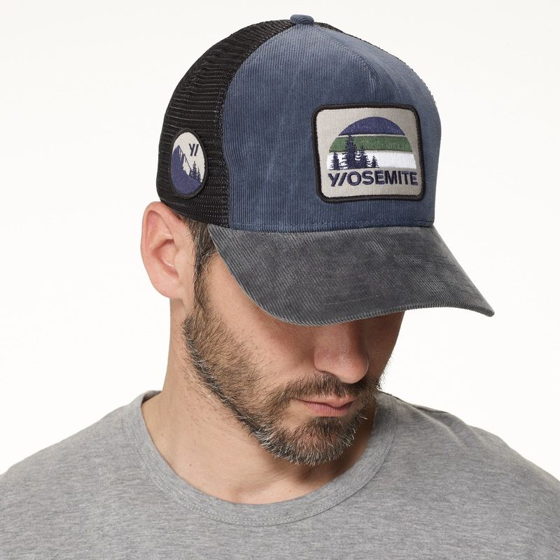 15a27a5b8b4 Yosemite Vintage Patch Trucker Hat from Mesh from James Perse ...