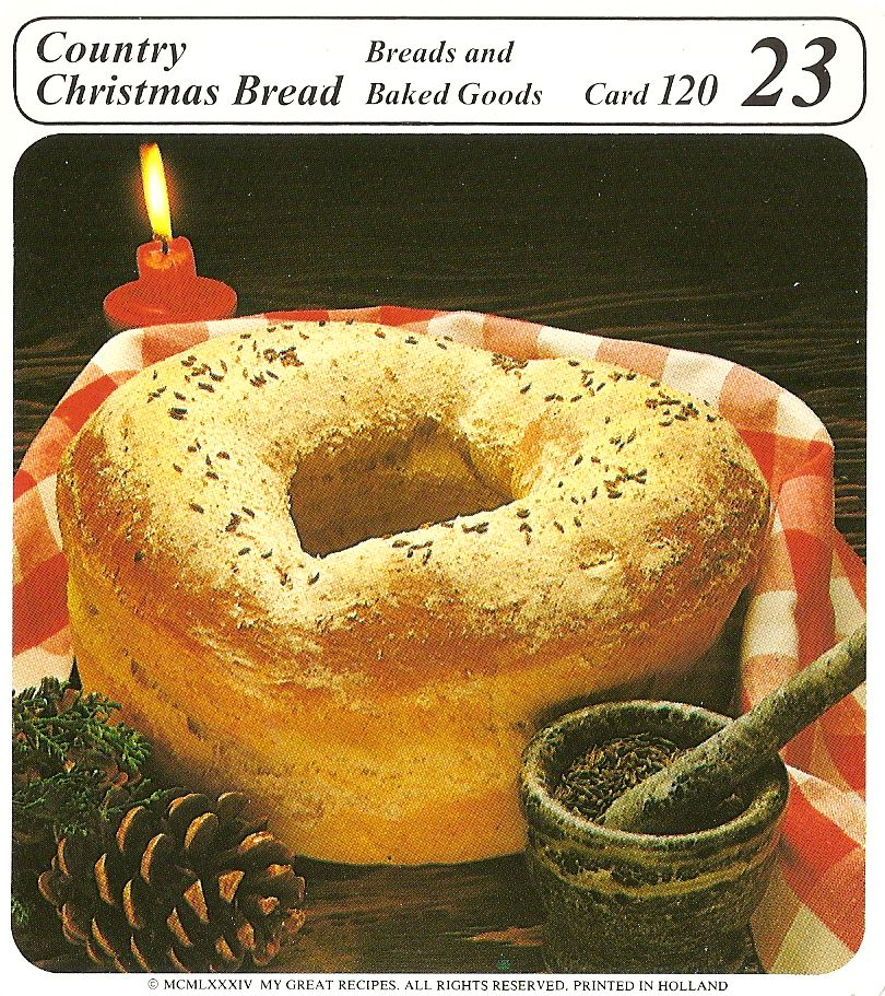 Country Christmas Bread Christmas bread, Bread, Vintage