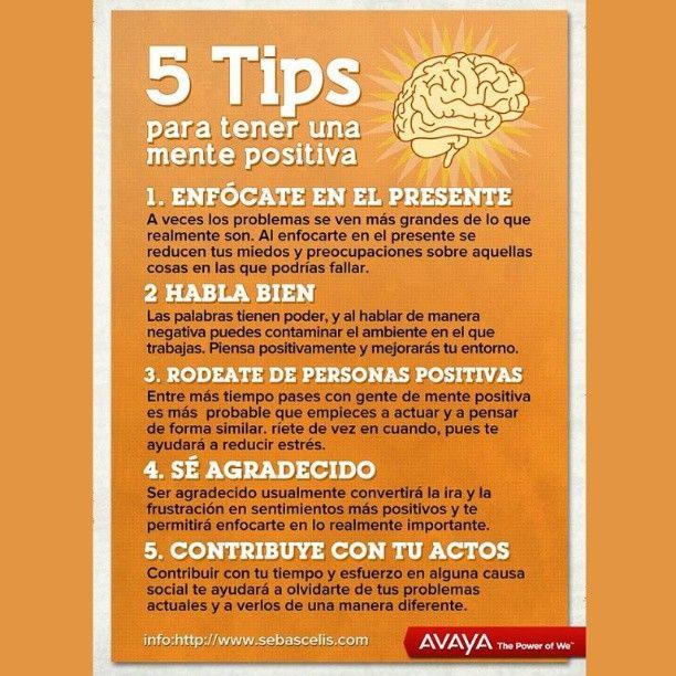5 tips para tener una mente positiva.