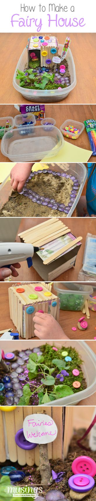 Making a Fairy House craft is such a fun easy activity for kids! It's a great way for kids to let their imaginations run wild and do a fun project with Mom. And you'll be surprised at how much fun you'll have helping them craft their house too!