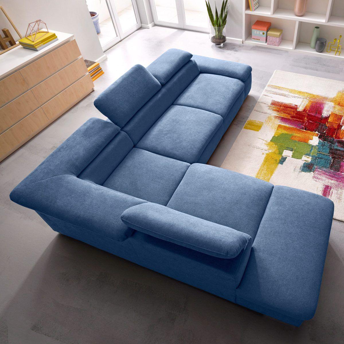 sit&more Ecksofa blau, Ottomane links, FSC®-zertifiziert Jetzt ...