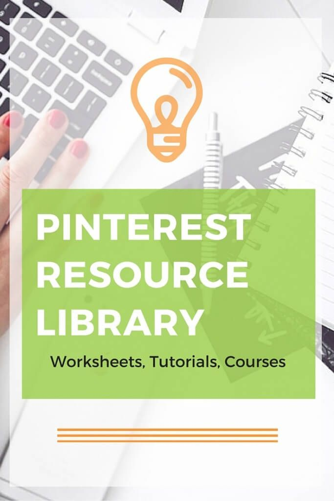 Resource library of Pinterest and SEO worksheets, tutorials, etc. Great for creative business owners and bloggers. Check it out!