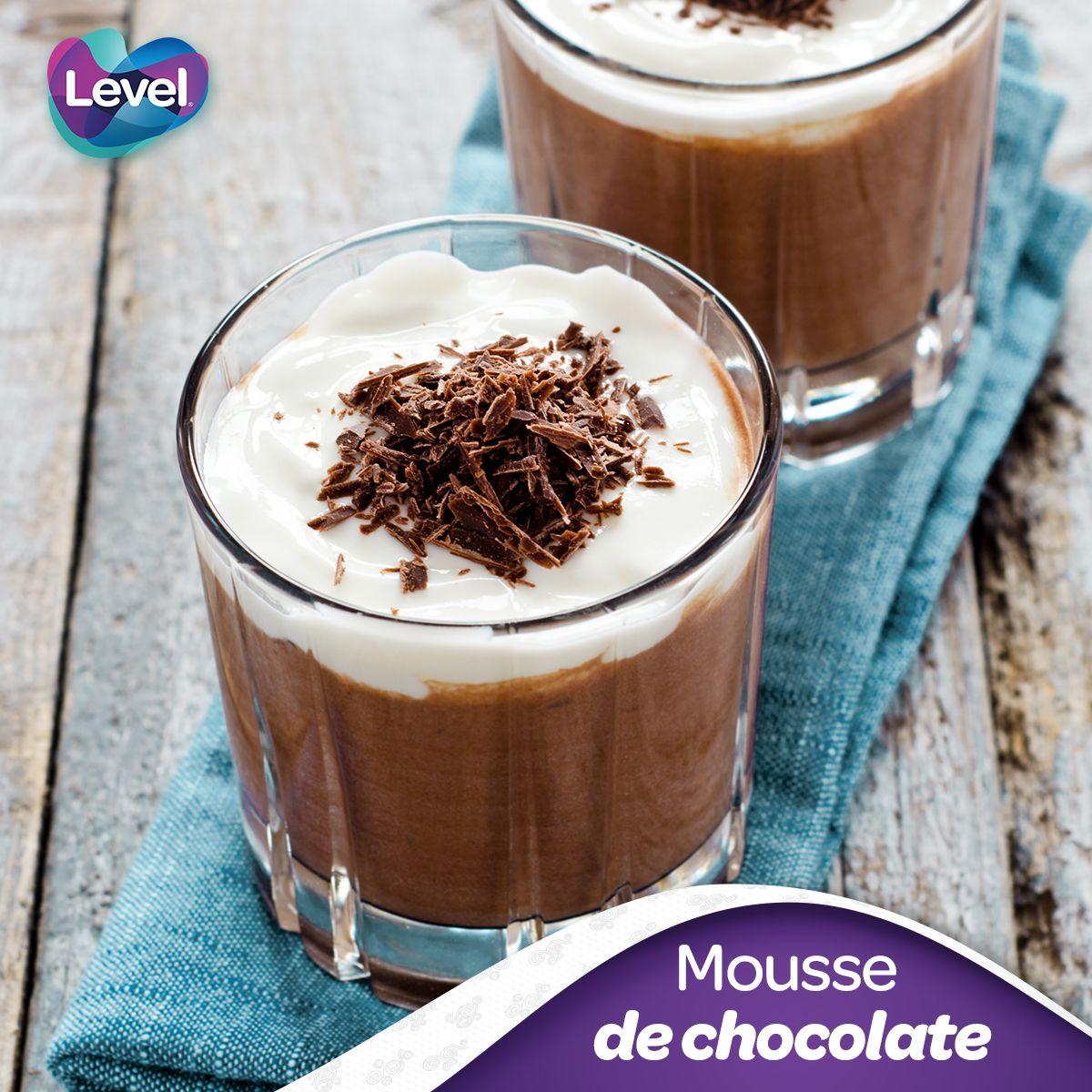 Mousse de chocolate. ¡Es fácil de hacer y sabe delicioso!