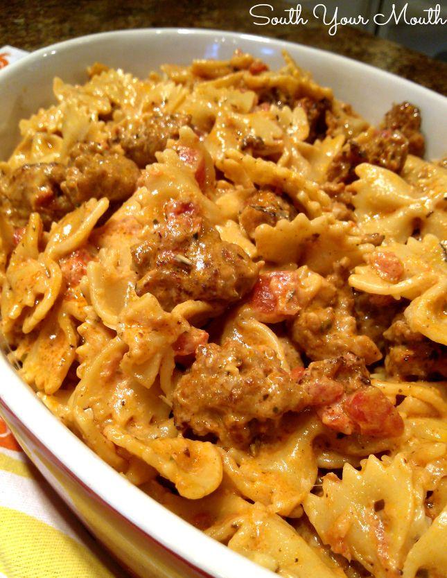 Creamy Italian Sausage Pasta Toss