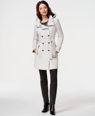 d6442798d9a3 Calvin Klein Water-Resistant Hooded Trench Coat