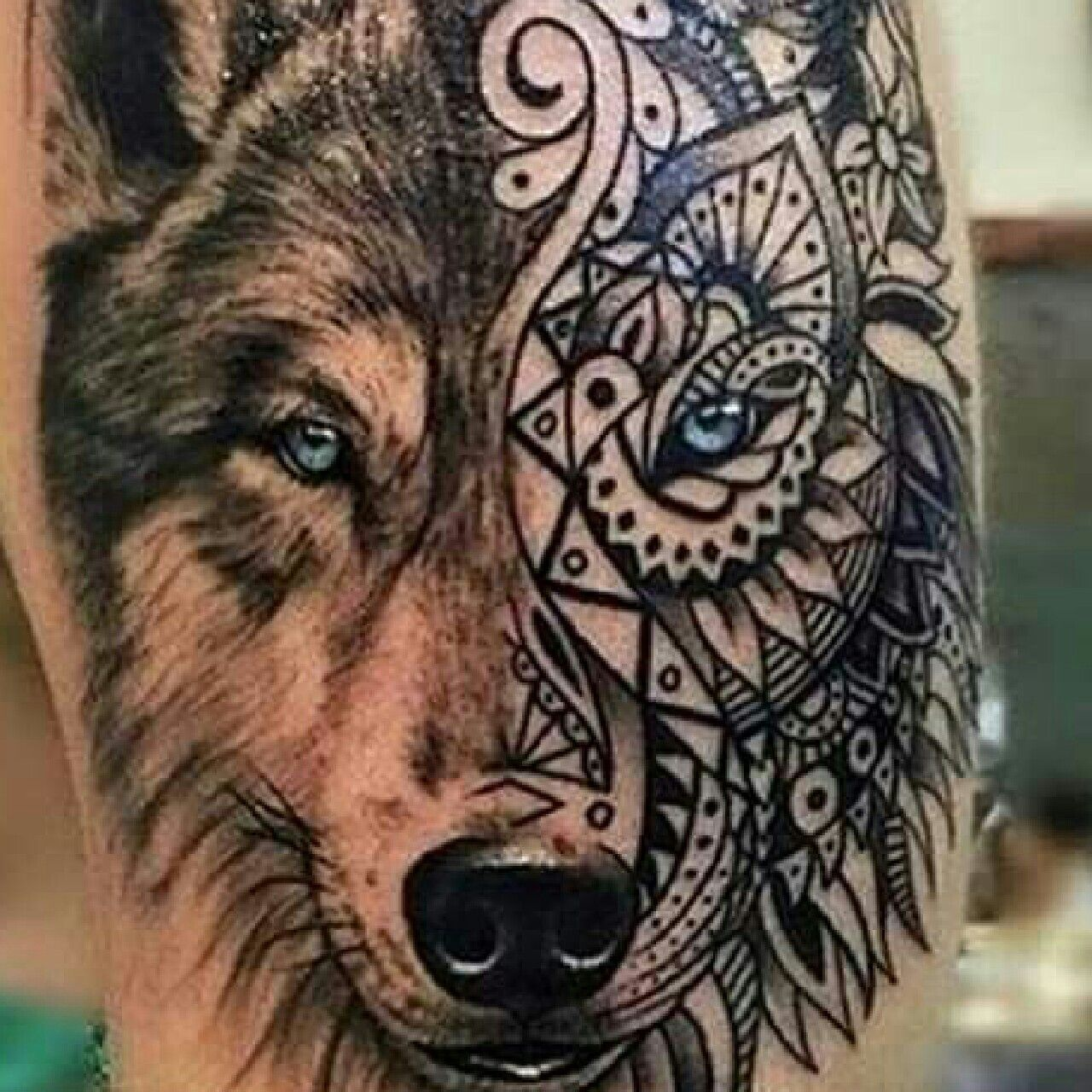Wolf Woman Tattoo By Sergey Shanko: Pin By Donna W On Make Your Mark