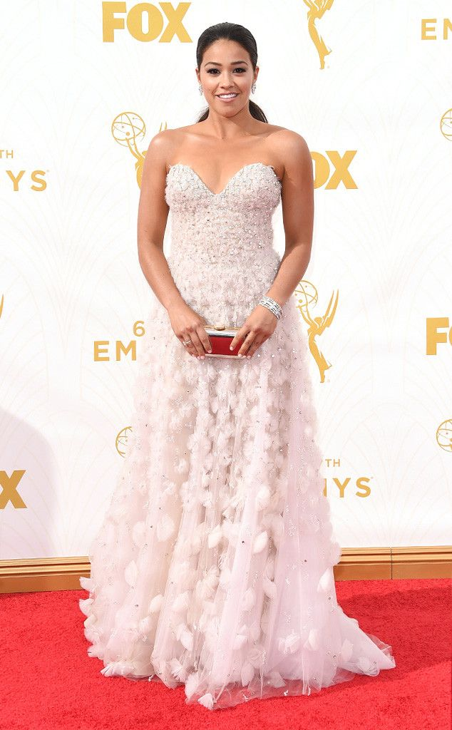 Gina Rodriguez from 2015 Emmys: Red Carpet Arrivals | E! Online