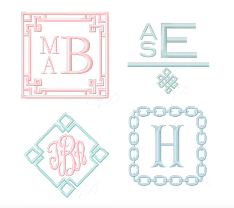 Greek Key Embroidery Design Package 4 Designs 9 Embroidery