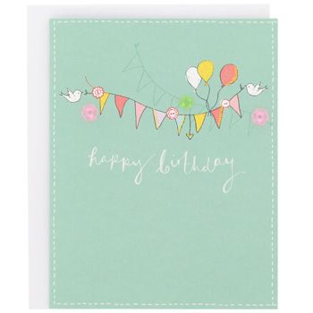 Sunshine Bunting And Bird Birthday Card Paperchase Baby Wright