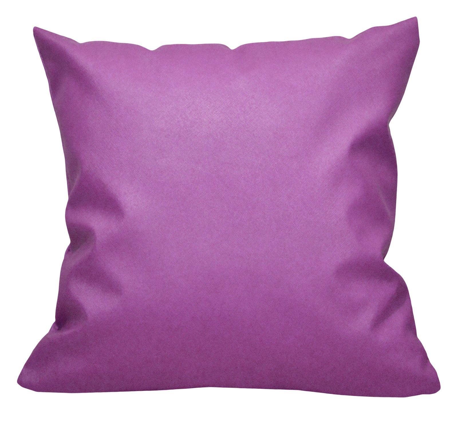 Pca purple faux leather cross pattern pvc cushion coverpillow