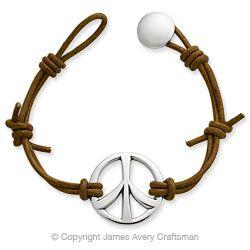 B 586l Jpg 300 300 Pixels Peace Sign Bracelet James Avery Jewelry Peace Bracelet