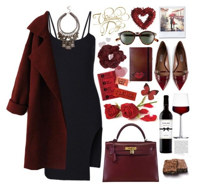 """2190. Be Mine"" by chocolatepumma ❤ liked on Polyvore featuring Tabitha Simmons, Hermès, iittala, Polaroid Eyewear, C.R. Gibson, Make, H&M, women's clothing, women and female"