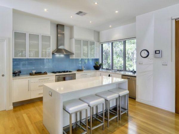 Küchenrückwand aus Glas - der moderne Fliesenspiegel sieht so aus - fliesenspiegel k che glas