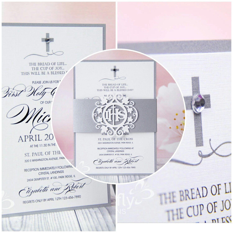First communion invitation 28 printed invitations 1st