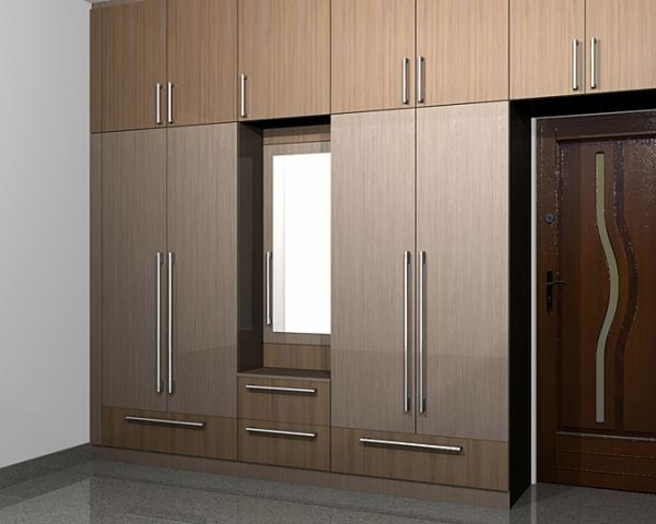 Indian Kitchen. Wardrobe design in bedroom provisioning dressing table