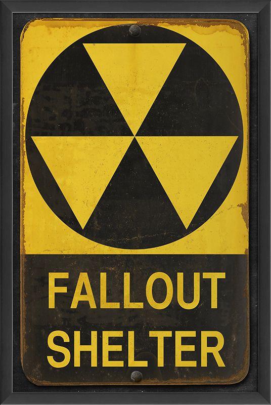 Zombie Fallout Shelter Metallschild für Hallowenn /& Fasching