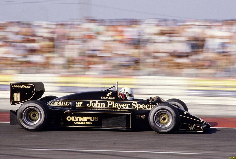elio de angelis ita john player special team lotus lotus 97t renault v6 turbo paul ricard. Black Bedroom Furniture Sets. Home Design Ideas