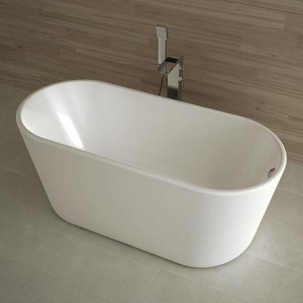 baignoire lot ovale 162x72 cm petite dimension