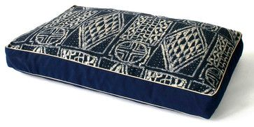 Fathom Ikat Dog Bed - transitional - Beds - Bliss Home and Design.   Indigo print dog bed?