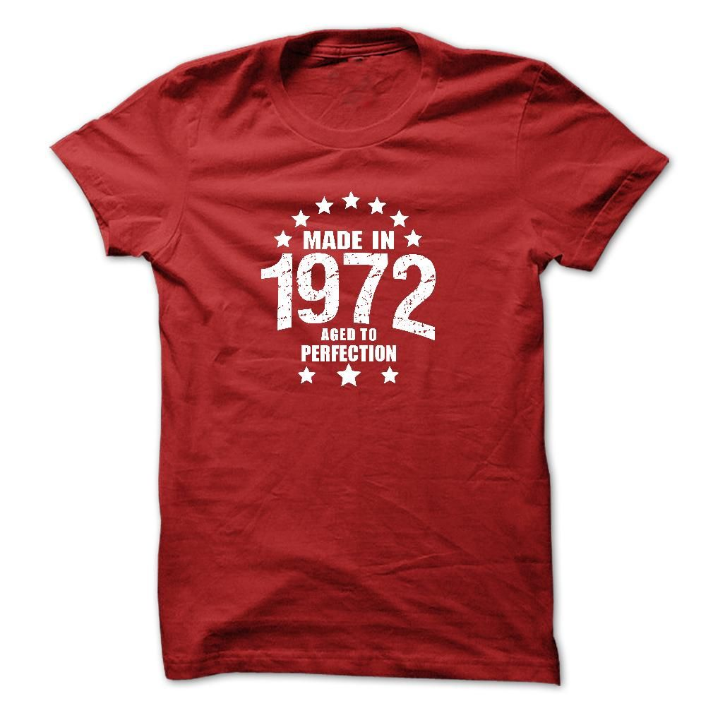 Made in 1972 Aged To Perfection AGE-t-shirt