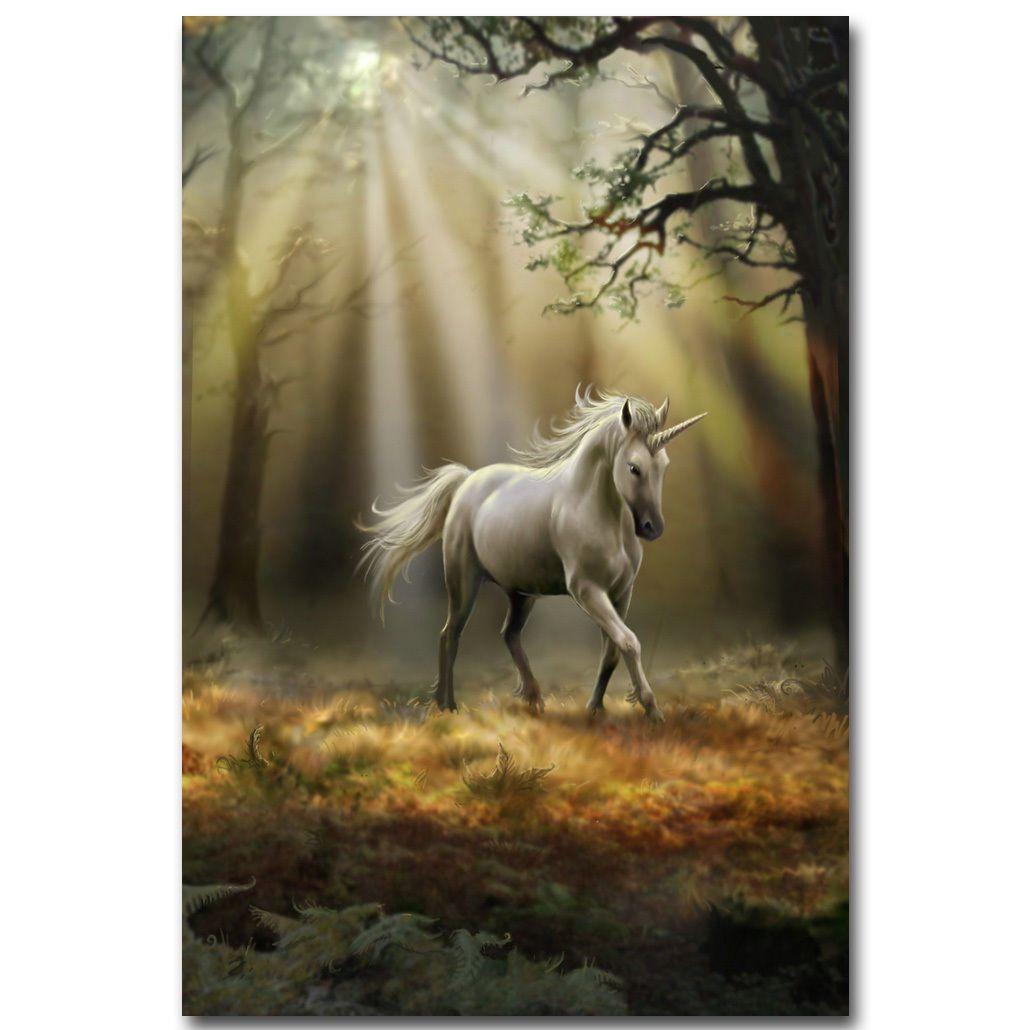 Unicorn Horse Fantasy Landscape Art Silk Poster 13x20 24x36 inch