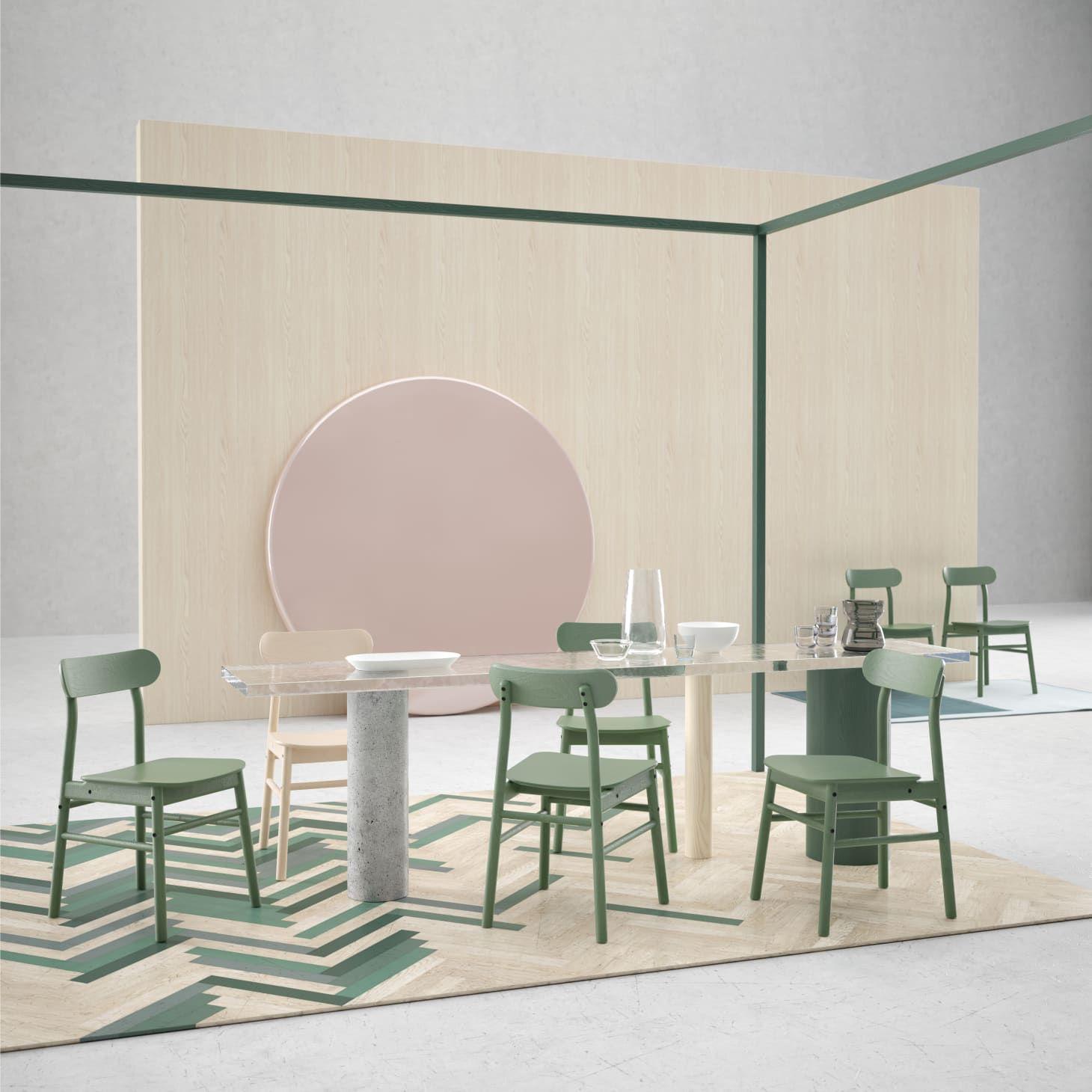 IKEA RONNINGE Green Chair in 2019 Ikea dining table