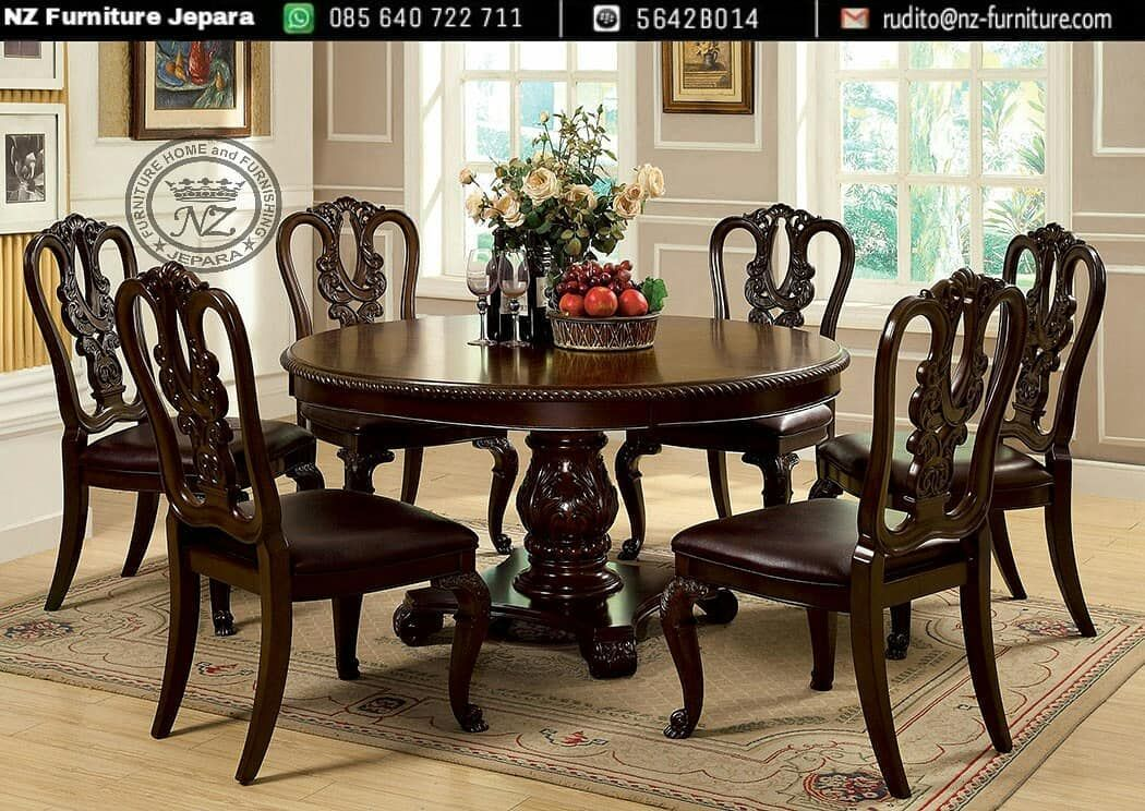 30+ Round cherry wood dining table and chairs Top