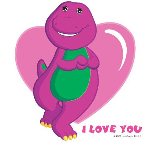 Barney The Dinosaur I Love You Sign  My Daughter Stefanie's