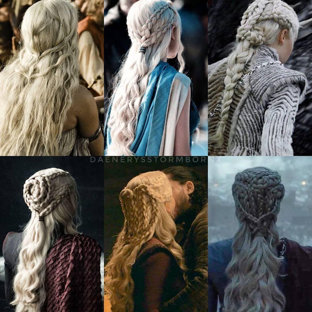 Daenerys Hair Through The Seasons Daenerys Daenerystargaryen Stormborn Daenerysstormborn Kh Daenerys Hair Daenerys Targaryen Hair Khaleesi Hair