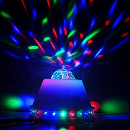 Amazon Com Seresroad New Rgb Crystal Ball Led Rgb Automatic Rotating Stage Light Disco Projector Party Club Bar Show Lighting Dj Ball For All Entertain Colores